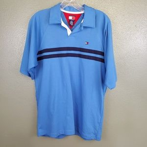 Tommy Hilfiger blue single button polo NWOT (546)